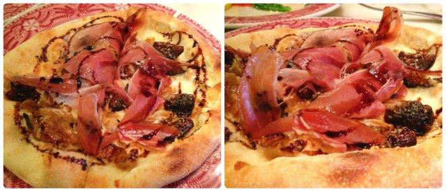 Italian Fig and prosciutto pizza from Mozza Mia in Edina, Minnesota