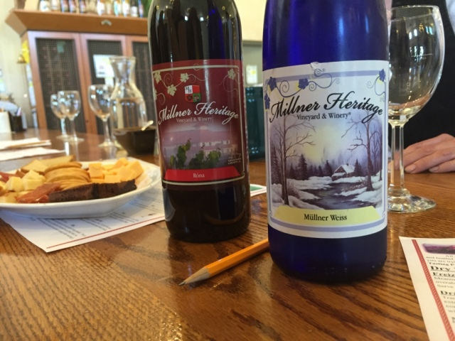 Millner Heritage Winery wine bottles